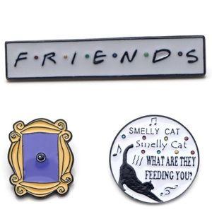 TV Friends Enamel Pins